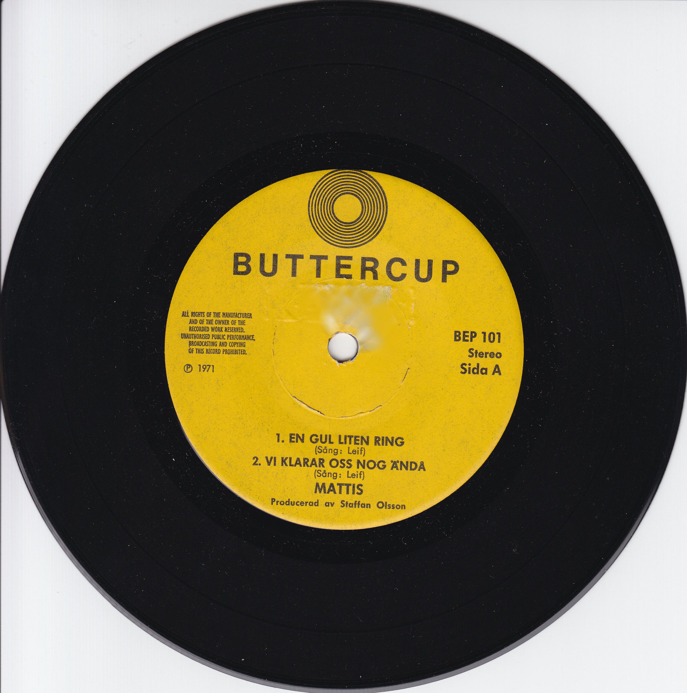 Bildresultat för Mattis på Buttercup Records